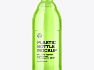 Colored Plastic Bottle Mockup