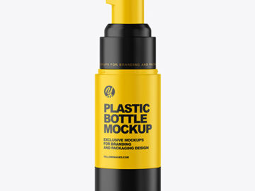 Matte Airless Pump Bottle Mockup