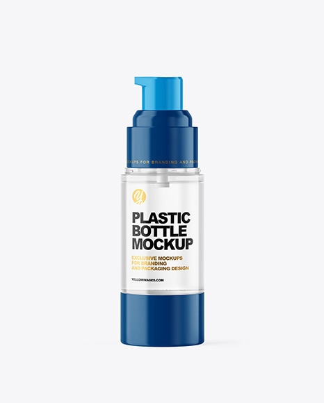 Clear Airless Pump Bottle Mockup