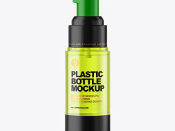 Color Plastic Airless Pump Bottle Mockup