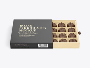 Box of Chocolate Sweets Mockup