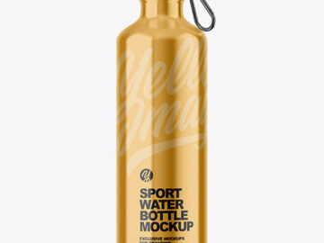 Brushed Metal Sport Bottle Mockup
