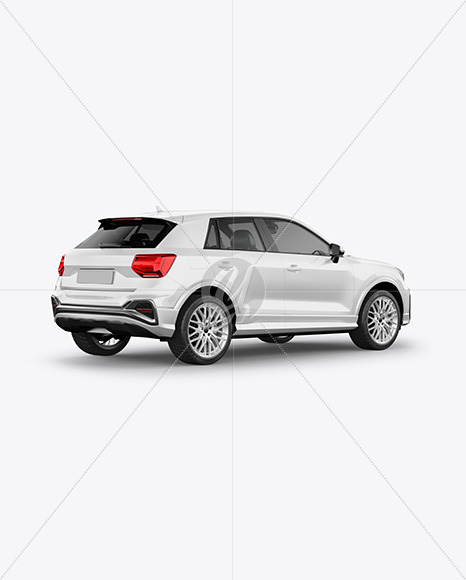 Luxury Crossover SUV - Back Half Side View