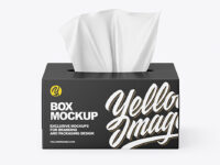 Box With Paper Wipes Mockup