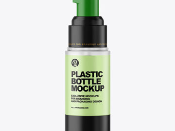 Frosted Airless Pump Bottle Mockup