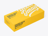 Glossy Paper Box with Perforation Mockup