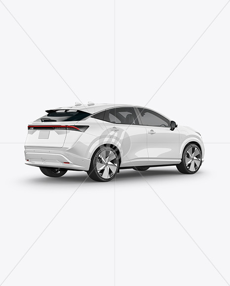 Electric Crossover SUV - Back Half Side View
