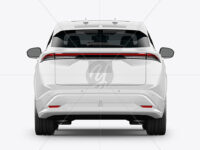 Electric Crossover SUV - Back View