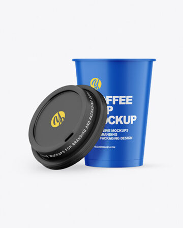 Matte Opened Coffee Cup Mockup