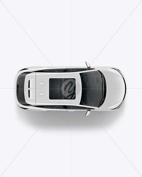 Electric Crossover SUV - Top View