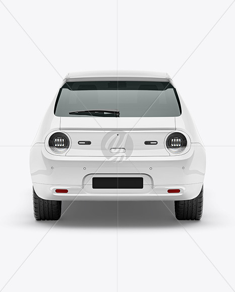 Compact Electric Car Mockup - Back View