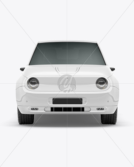 Compact Electric Car Mockup - Front View