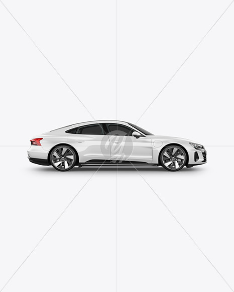 Electric Executive Car Mockup - Side View