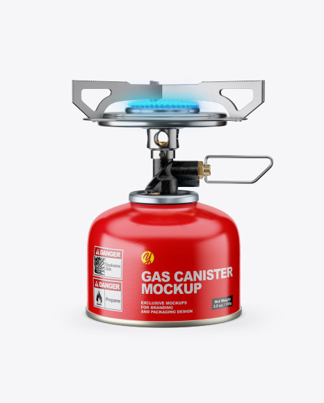 100g Gas Canister w/ Stove Mockup