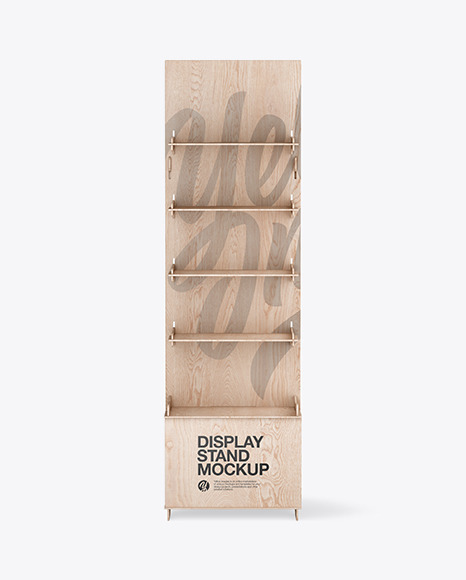 Wooden Display Stand Mockup