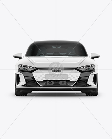 Electric Executive Car Mockup - Front View