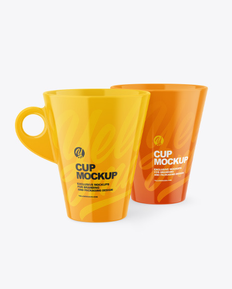 Two Glossy Cups Mockup