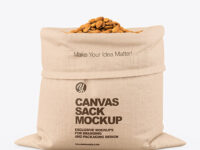 Canvas Sack with Almond Mockup