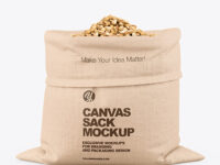 Canvas Sack with Pistachios Mockup