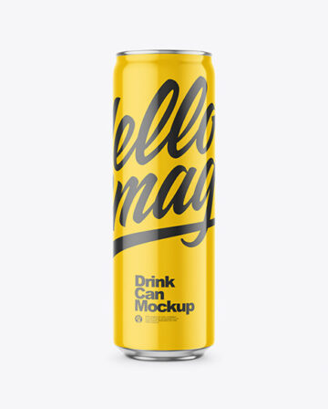 473ml Glossy Drink Can Mockup