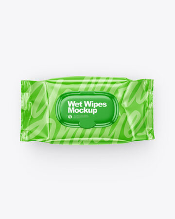 Wet Wipes Mockup - Top View