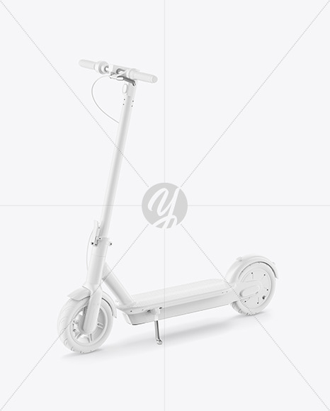Electric Scooter Mockup - Half Side View