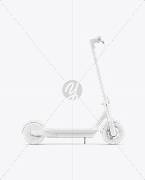 Electric Scooter Mockup - Side View