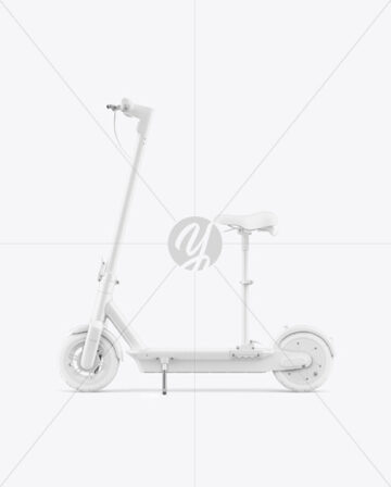 Electric Scooter Mockup with Seat - Side View
