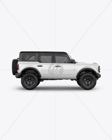 Off-Road SUV Mockup - Side View
