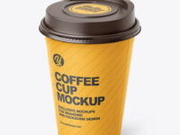 Matte Paper Coffee Cup Mockup