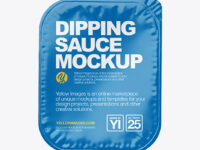 Dipping Sauce w/ Glossy Lid Mockup