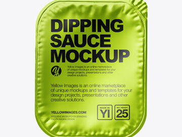 Dipping Sauce w/ Metallized Lid Mockup