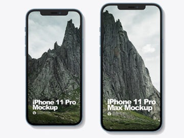 iPhone 12 Pro and iPhone 12 Pro Max all Colors Mockup
