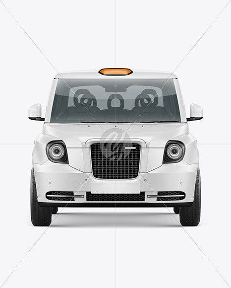Electric Cab Mockup - Front View