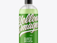 Frosted Soap Bottle with Pump Mockup