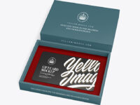 Textured Gift Card in a Box Mockup