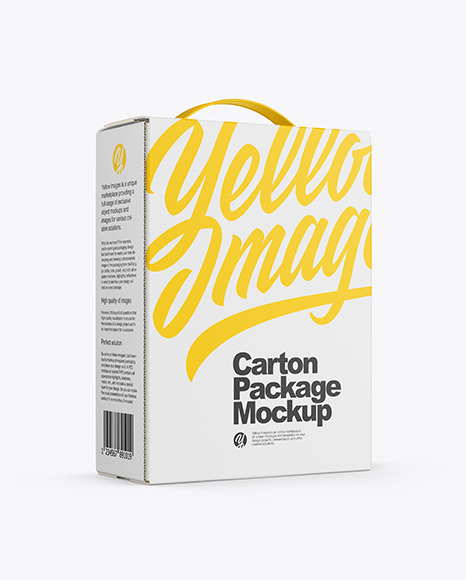 Carton Package with Handle Mockup