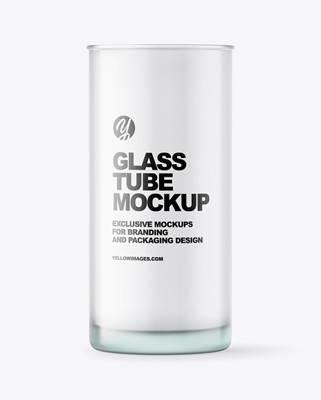 Frosted Glass Tube Mockup