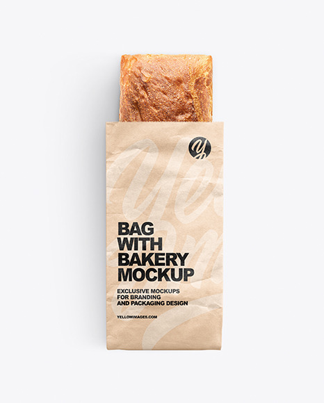Paper Bag With Bakery Mockup
