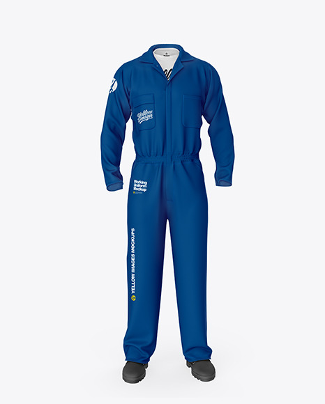 Worker Uniform (Coveralls) – Front View