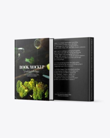 Two Books w/ Fabric Cover Mockup