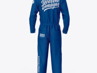 Worker Uniform (Coveralls) Mockup – Back View