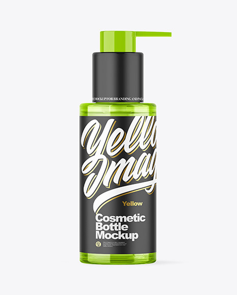 Colored Cosmetic Bottle Mockup