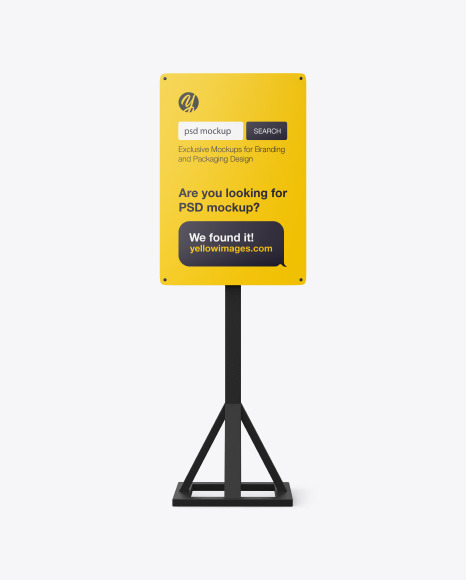 Promotional Advertising Stand Mockup