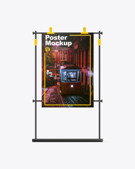 Stand with Poster Mockup