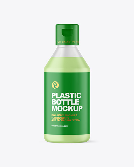 Frosted Liquid Soap Cosmetic Bottle Mockup