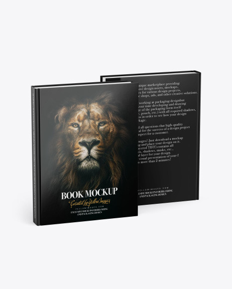 Two Books w/ Glossy Cover Mockup