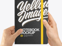 Notebook in a Hand Mockup