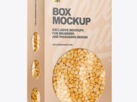 Paper Box with Yellow Peas Mockup
