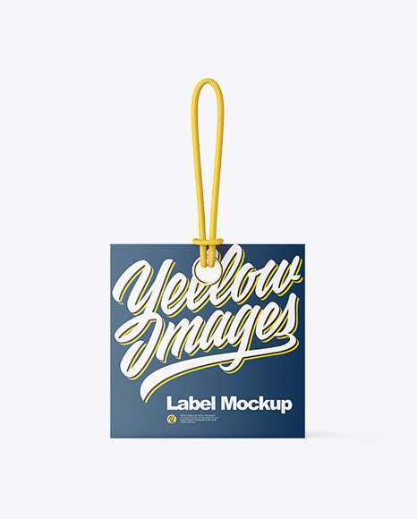 Paper Label With Rope Mockup